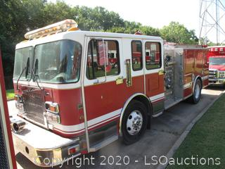 2000 SPARTAN ENGINE PUMPER FIRE TRUCK