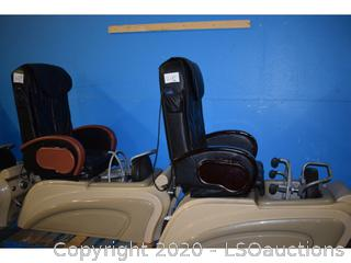 (2) MASSAGING PEDICURE STATION CHAIRS