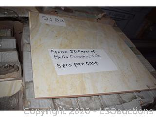 (50 BOXES) OF CERAMIC TILE