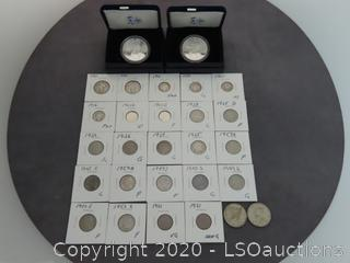 AMERICAN EAGLES, KENNEDY HALVES, DIMES & NICKELS