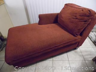 Burgundy Chaise Lounge