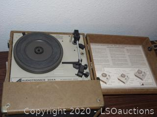 Audiotronics Table Top Vintage Record Player