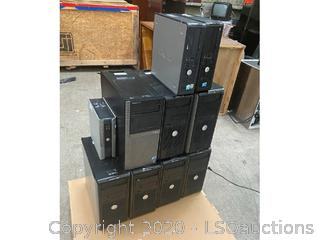 (10) DESKTOP COMPUTERS