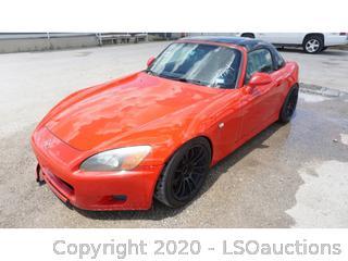 2001 Honda S2000 - Key / Ran & Drove