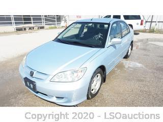 2005 Honda Civic Hybrid - Key / Ran & Drove