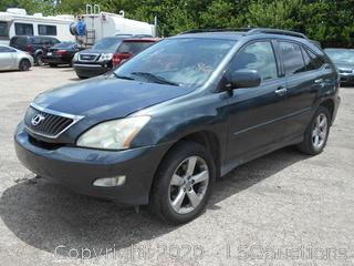2008 LEXUS RX 350 - KEY / STARTED