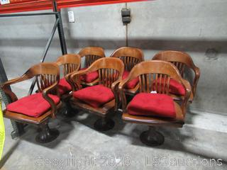 (7) VINTAGE JURY BOX CHAIRS