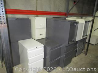 (21) FILE CABINETS