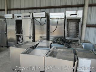 ICE MAKERS, RETHERMALIZATION UNITS, UNIMAC WASHER