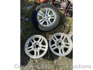 (3) FORD WHEELS