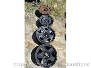 (4) STEEL WHEELS